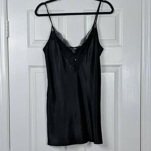 Victoria's Secret Lacy Black Chemise